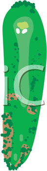 Royalty Free Clipart Image of a Golf Hole