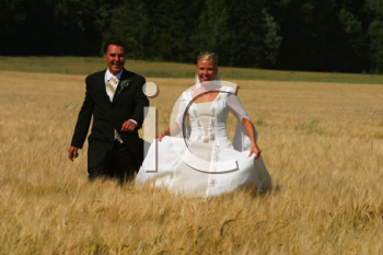 Royalty Free Photo of a Bride and Groom