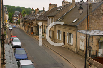 Royalty Free Photo of a Residential Street