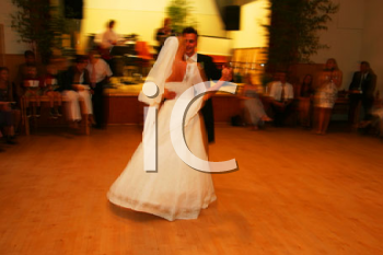 Royalty Free Photo of Newlyweds Dancing