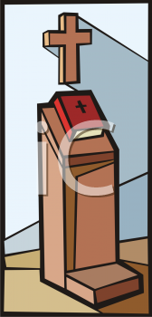 Royalty Free Clipart Image of a Bible