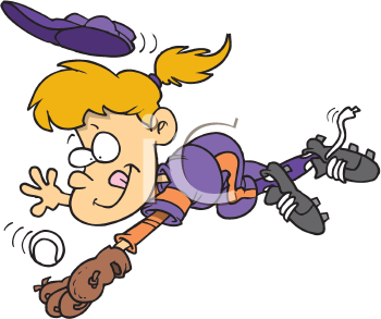 Royalty Free Clipart Image of a Girl Playing Ball