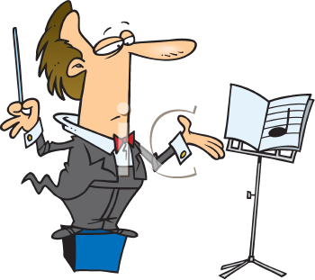 Royalty Free Clipart Image of Music Conductor