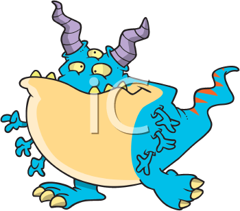 Royalty Free Clipart Image of an Alien Creature
