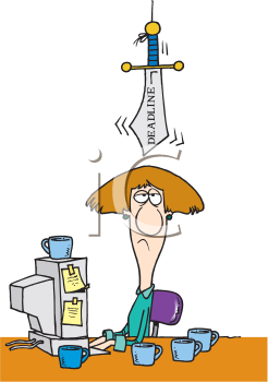 Royalty Free Clipart Image of a Person With a Knife Over Their Head