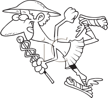 Royalty Free Clipart Image of Hermes