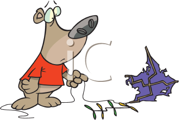 Royalty Free Clipart Image of a Bear Flying a Kite