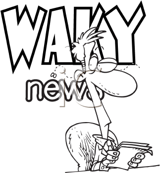 Royalty Free Clipart Image of a News Anchor