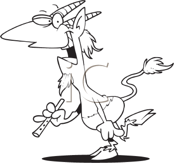Royalty Free Clipart Image of a Faun