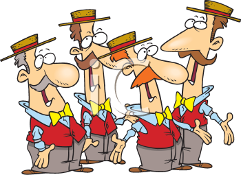 Royalty Free Clipart Image of a Barbershop Quartet