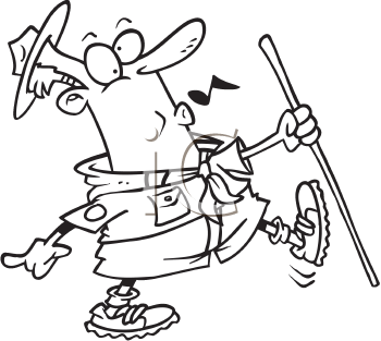 Royalty Free Clipart Image of a Scout Master
