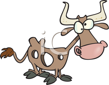 Royalty Free Clipart Image of a Holey Cow