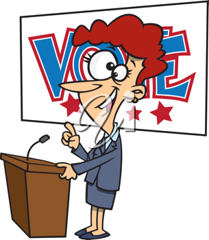 Royalty Free Clipart Image of a Woman Politician