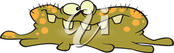 Royalty Free Clipart Image of a Flu Bug