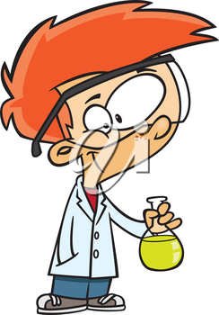 Royalty Free Clipart Image of a Scientist Boy