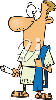 Royalty Free Clipart Image of a Man in Costume