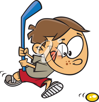 Royalty Free Clipart Image of a Field Hockey Player