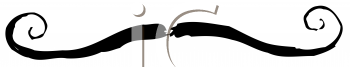 Royalty Free Clipart Image of a Handlebar Moustache