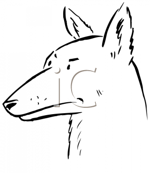 Royalty Free Clipart Image of a Dog's Head