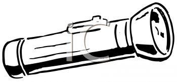 Royalty Free Clipart Image of a Flashlight