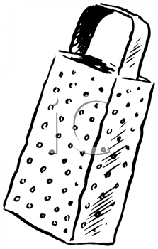 Royalty Free Clipart Image of a Cheese Grater