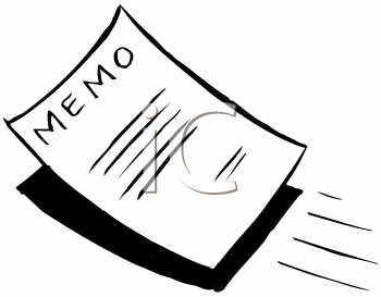Royalty Free Clipart Image of a Memo