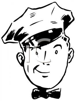 Royalty Free Clipart Image of a Milkman