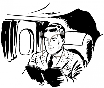 Royalty Free Clipart Image of a Passenger
