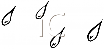 Royalty Free Clipart Image of Raindrop