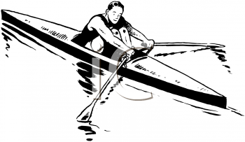 Royalty Free Clipart Image of a Sculler