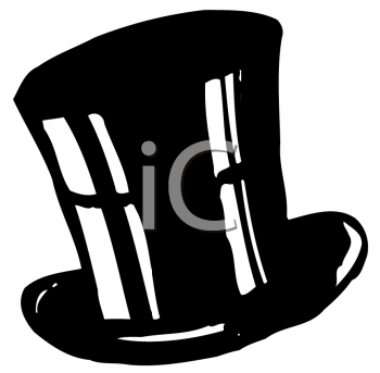 Royalty Free Clipart Image of a Top Hat