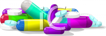 Royalty Free Clipart Image of Medication