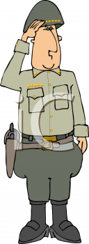 Royalty Free Clipart Image of a General