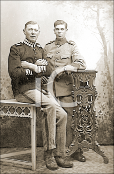 Royalty Free Photo of a Portrait of Two Military Men