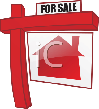 Royalty Free Clipart Image of Real Estate