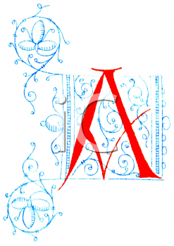 Royalty Free Clipart Image of an A