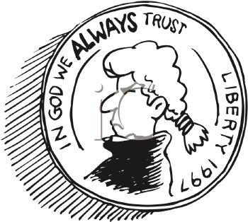 Royalty Free Clipart Image of a Coin