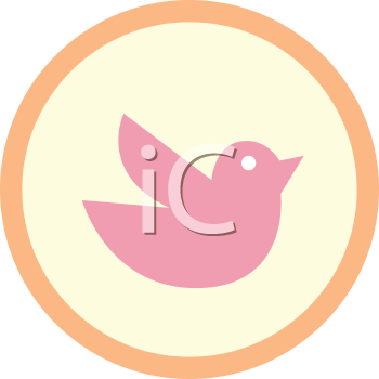 Royalty Free Clipart Image of a Bird Sign