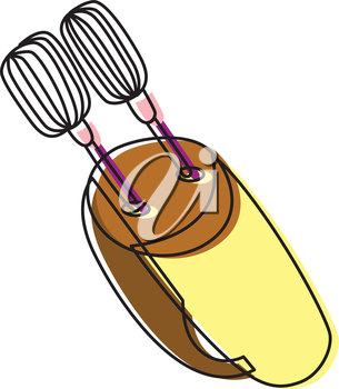 Royalty Free Clipart Image of an Egg Beater