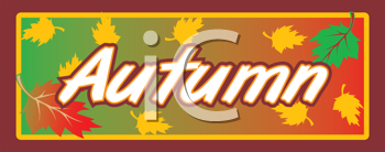 Royalty Free Clipart Image of a Fall Banner