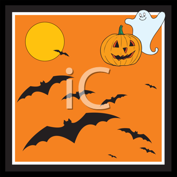 Royalty Free Clipart Image of a Halloween Card