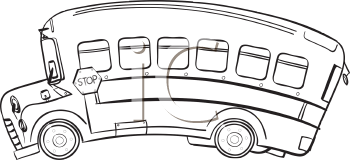 Royalty Free Clipart Image of a School Bus