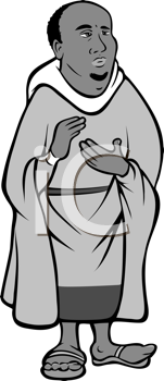 Royalty Free Clipart Image of a Monk