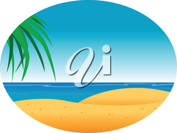 Royalty Free Clipart Image of a Tropical Sandy Beach