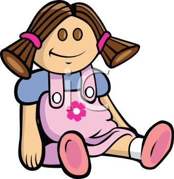 Royalty Free Clipart Image of a Toy Doll