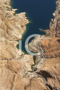 Royalty Free Photo of an Aerial of Lake Mead Shoreline in Nevada, USA