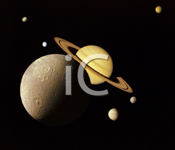 Royalty Free Photo of a NASA Image of Planets in Outer Space