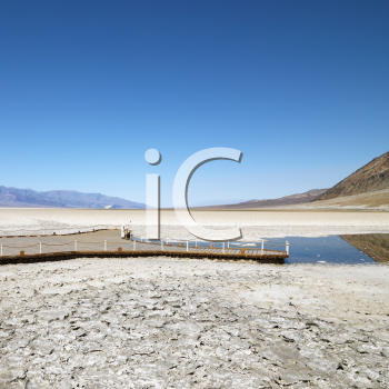 Royalty Free Photo of a Badwater Basin in Death Valley National Park