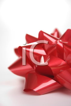 Royalty Free Photo of a Big Red Christmas Bow