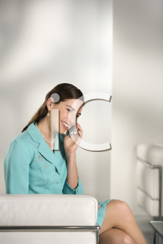 Royalty Free Photo of a Businesswoman Talking on a Cellphone